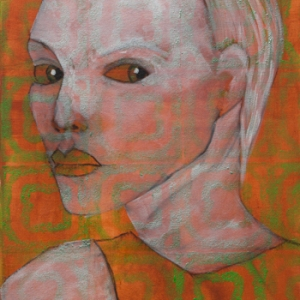 Licht der Lianenfrau - Weibliche Kraft leben - Malerei Ausdruck von  Emotion mit Licht, Farbe und Form. Acryl auf Leinwand 50x100 cm birgitneururer.com