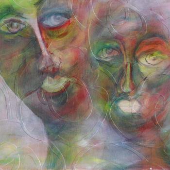 Licht der Lianenfrau - Weibliche Kraft leben - Malerei Ausdruck von  Emotion mit Licht, Farbe und Form. Acryl auf Leinwand 100x50 cm birgitneururer.com