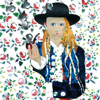 Licht der Lianenfrau - Weibliche Kraft leben - Malerei Ausdruck von  Emotion mit Licht, Farbe und Form. Acryl auf Leinwand 160x110 cm birgitneururer.com