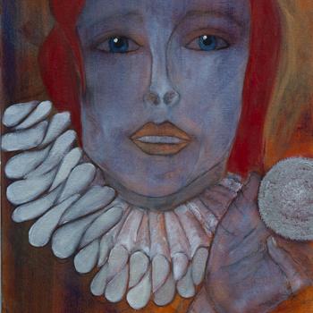 Licht der Lianenfrau - Weibliche Kraft leben - Malerei Ausdruck von  Emotion mit Licht, Farbe und Form. Acryl auf Leinwand, 40x120 cm. Titel: Mysterien & Zirkel, birgitneururer.com