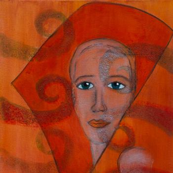 Licht der Lianenfrau - Weibliche Kraft leben - Malerei Ausdruck von  Emotion mit Licht, Farbe und Form. Acryl auf Leinwand, 40x120 cm. Titel: Gedanken & Kraft, birgitneururer.com